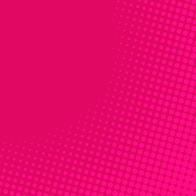 ピンクグラデーションハーフトーンの背景 無料ベクター