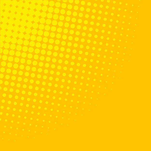 黄色のグラデーションハーフトーンの背景 無料ベクター