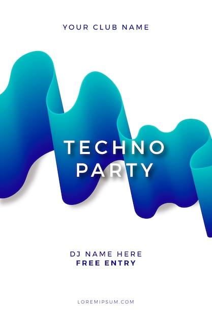 Шаблон плаката абстрактная вечеринка Бесплатные векторы