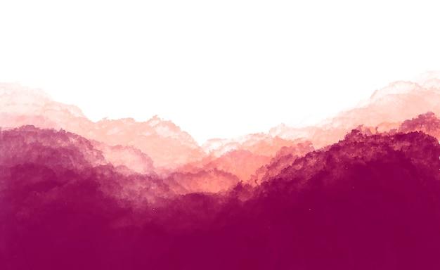 あずき色の水彩背景 無料ベクター