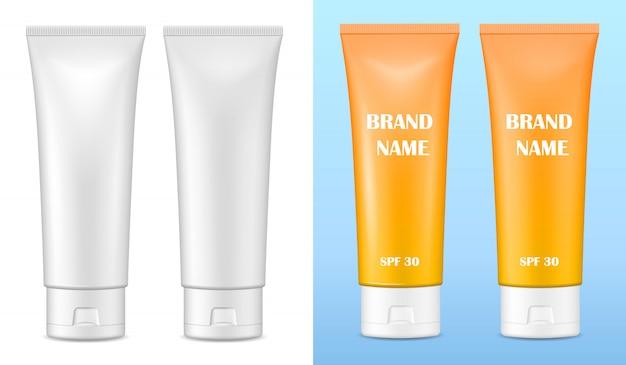 化粧品用のつや消しおよび光沢包装 Premiumベクター
