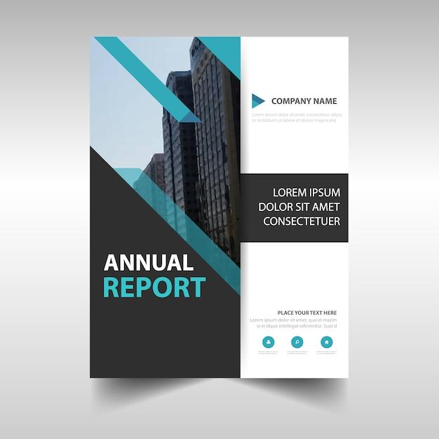 Синий творческий годовой отчет Бесплатные векторы
