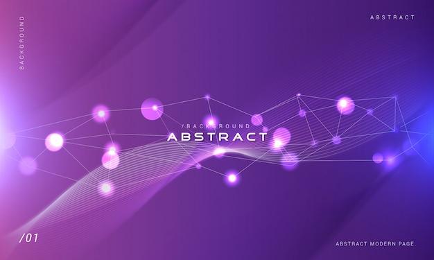 ボケ味の光と紫色の技術の背景 Premiumベクター