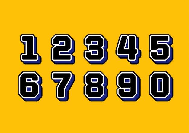 スポーツユニフォームジャージ番号セット Premiumベクター