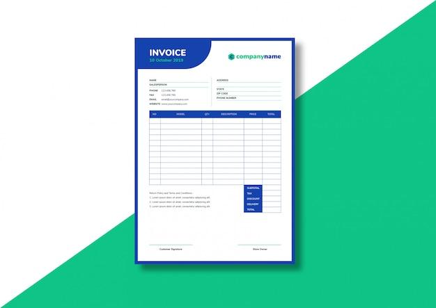 Шаблон бизнес-счета Premium векторы