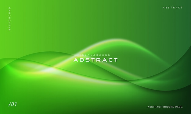緑の抽象的な現代波背景 Premiumベクター