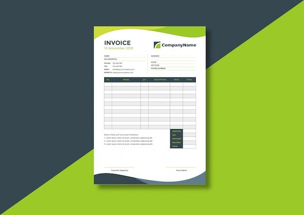 Шаблон счета-фактуры для корпоративного бизнеса Premium векторы