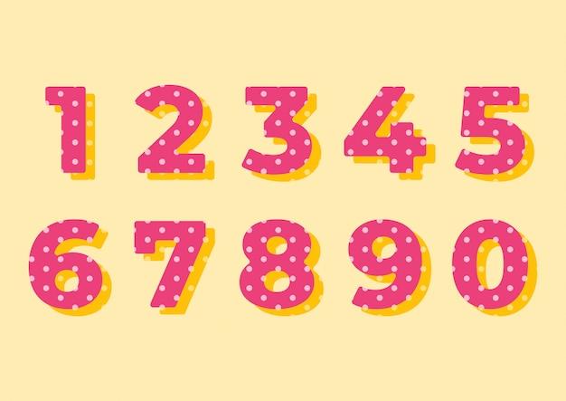 装飾サークルパターン番号セット Premiumベクター