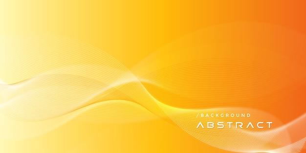 抽象的なオレンジ色のモダンなグラデーションラインの背景 Premiumベクター