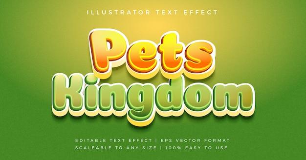 Эффект шрифта в стиле игривый случайный текст Premium векторы