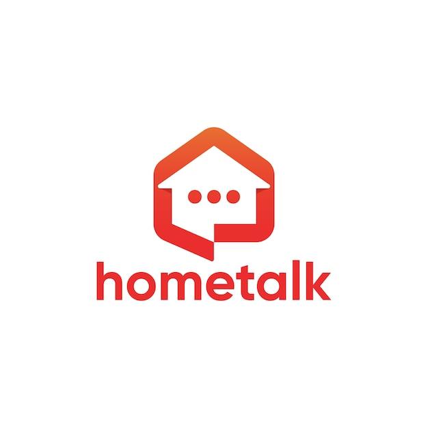 Простой современный домашний разговор дизайн логотипа шаблона Premium векторы