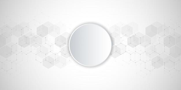 六角形パターンから医学的背景。 Premiumベクター