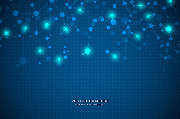 分子構造の背景。遺伝学および科学研究。 Premiumベクター