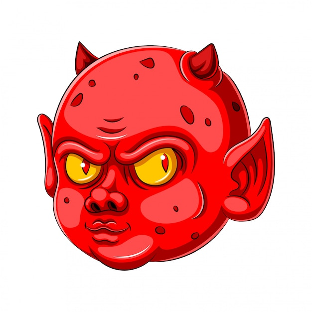 赤ちゃんの悪魔の漫画のキャラクター Premiumベクター