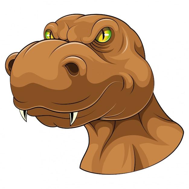 ブラウンティラノサウルスヘッドマスコット Premiumベクター
