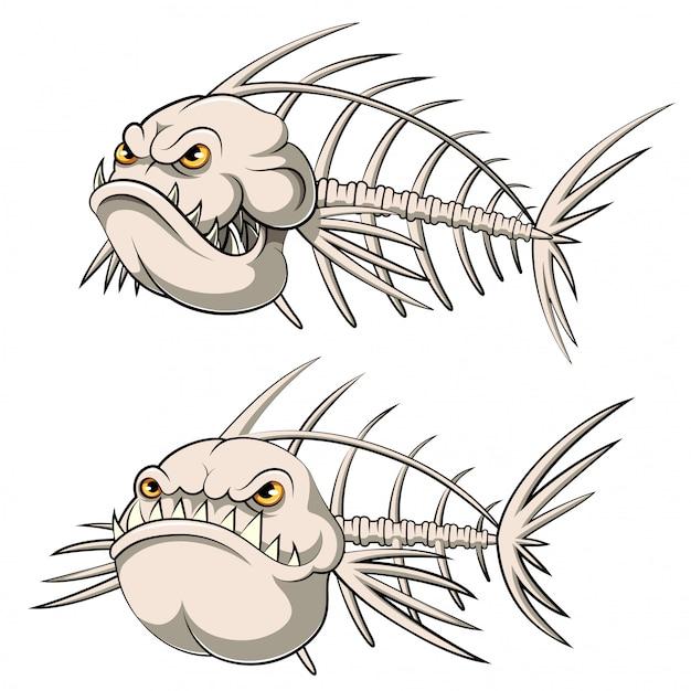 魚骨漫画のセットのコレクション Premiumベクター