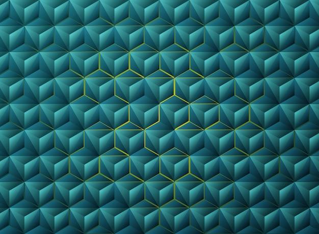 抽象的なグラデーションブルーの三角形の幾何学的なハイテクデザイン。 Premiumベクター
