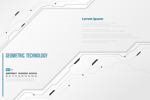 抽象的な現代技術の白いテンプレートの背景 Premiumベクター