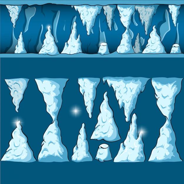 Бесшовные мультфильм вектор пещера Premium векторы