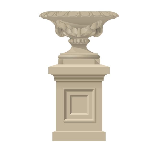 クラシックなスタイルの装飾花瓶 Premiumベクター