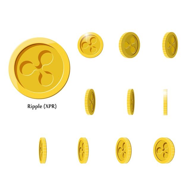 金回転リップルコイン Premiumベクター