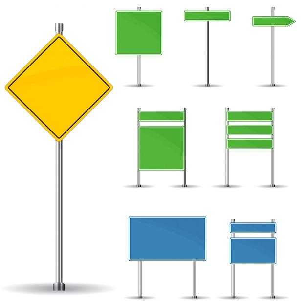 空白の道路標識 Premiumベクター