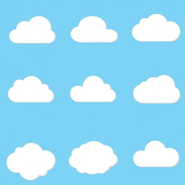 Облако проектирует коллекцию Бесплатные векторы
