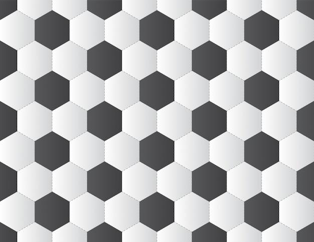 黒と白のサッカーボールのシームレスパターン Premiumベクター