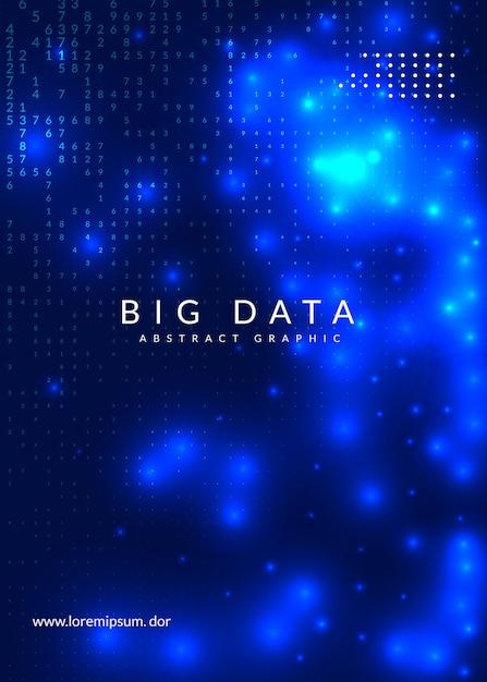 ビッグデータの背景。 Premiumベクター