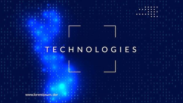 Цифровые технологии абстрактный фон. искусственный интеллект, Premium векторы