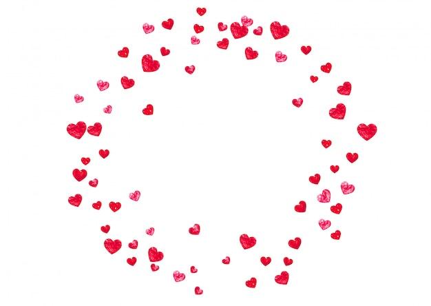 Валентина фон с сердечками розовый блеск. Premium векторы
