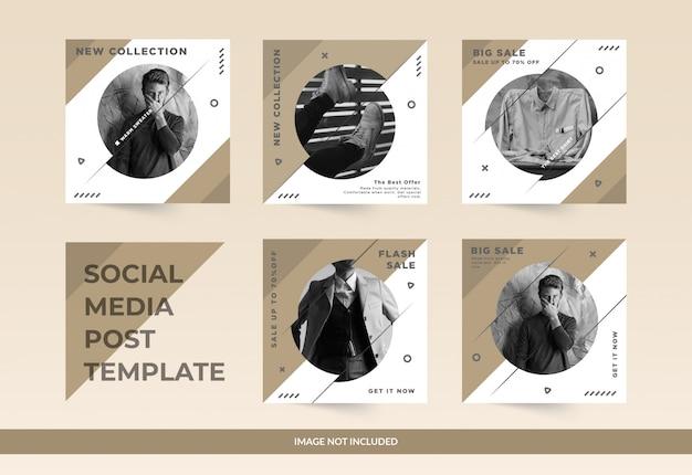 Мода продажа абстрактных социальных медиа пост Premium векторы