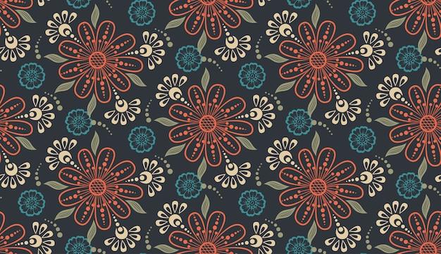 Цветок бесшовный фон фон. элегантная текстура для фона. Бесплатные векторы