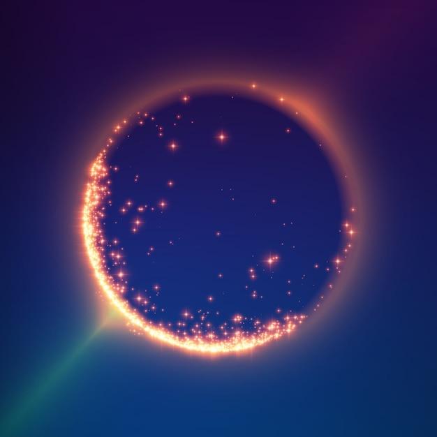 抽象的なカラフルなメッシュバックグラウンド。ブラックホールまたは特異点未来的な技術スタイル 無料ベクター