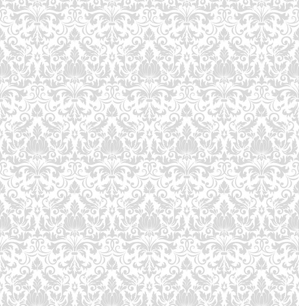 ダマスク織のシームレスなパターン背景。古典的な豪華な昔ながらのダマスク織飾り、王家 無料ベクター