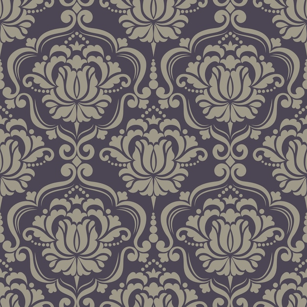 Дамасской бесшовный фон фон. классический роскошный старомодный дамасский орнамент Бесплатные векторы