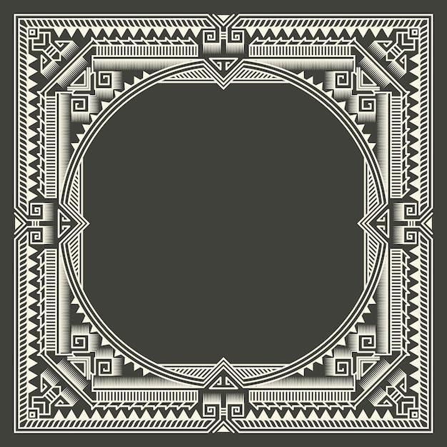 Цветочные и геометрические вензель кадр на темно-сером фоне. вензель элемент дизайна. Бесплатные векторы