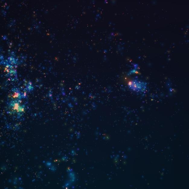 抽象的な暗い銀河ベクトル 無料ベクター