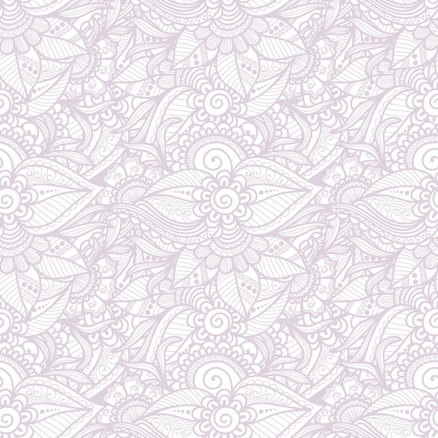 観賞用の花のシームレスなパターン 無料ベクター