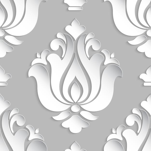 ダマスクスタイルの装飾図 無料ベクター