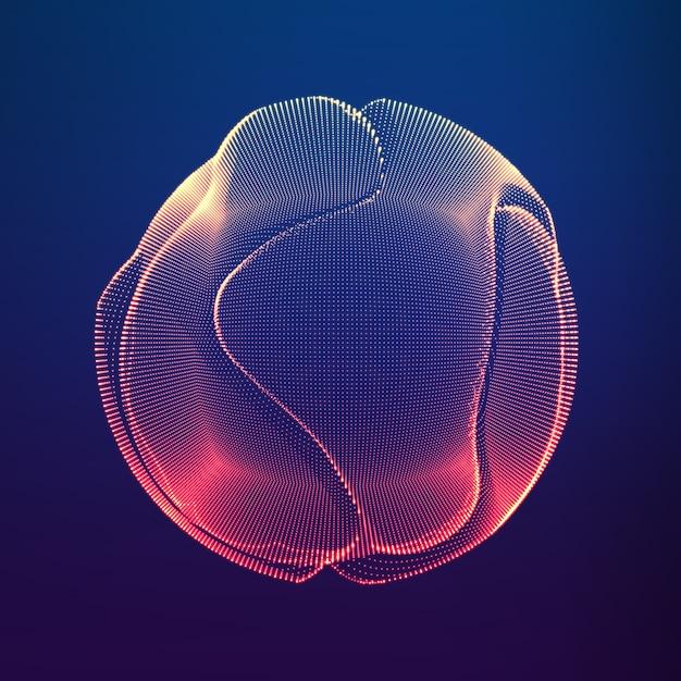 円を描くグラデーションの波線 無料ベクター