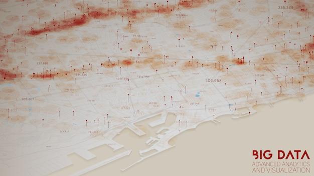 Анализ городской финансовой структуры больших данных Бесплатные векторы