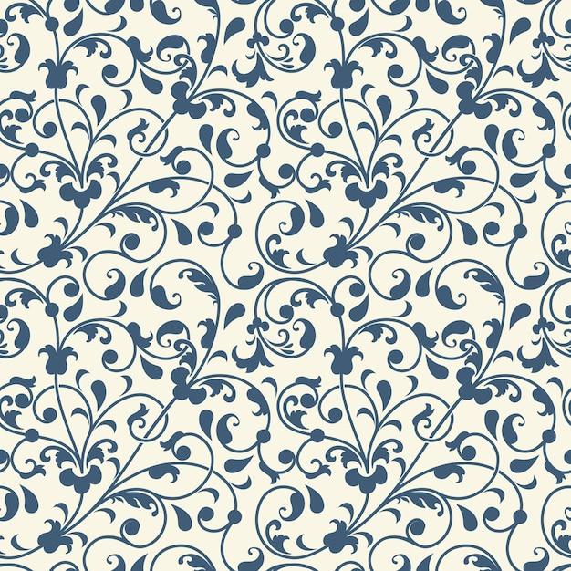 花のシームレスなパターンの背景 無料ベクター