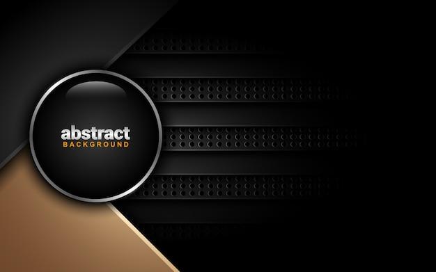 濃い色のスキームと抽象的な背景:オーバーラップレイヤースタイル Premiumベクター