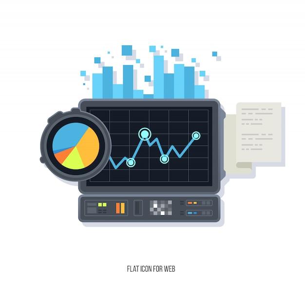 データネットワーク管理、ビッグデータ機械学習アルゴリズム。 Premiumベクター