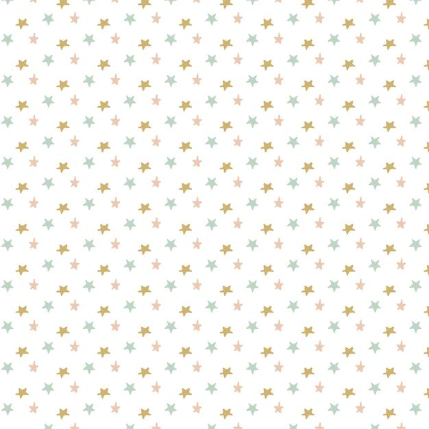 星のパターン設計 無料ベクター