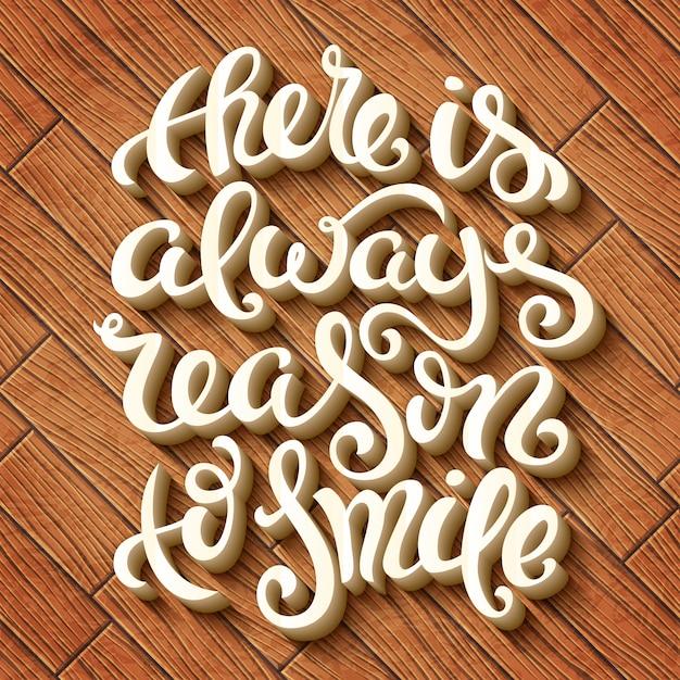 Всегда есть причина улыбаться Premium векторы