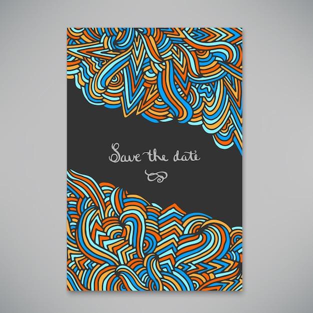 招待状や発表のための美しいカード Premiumベクター