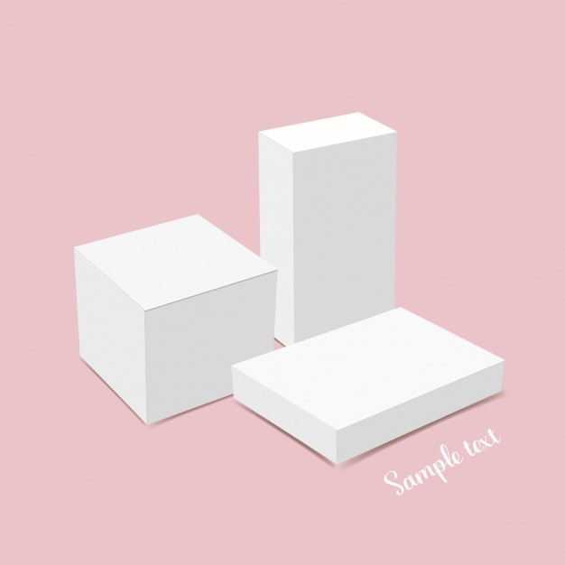 ホワイトボックステンプレートのデザイン 無料ベクター