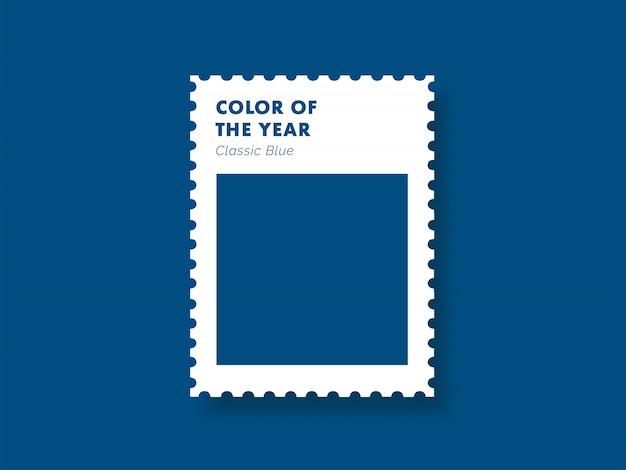 Классический синий цвет года Premium векторы